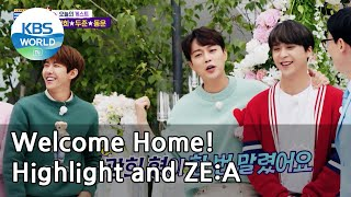 Welcome home! Highlight and ZE:A (Come Back Home)   KBS WORLD TV 210522