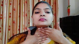 Front neck oil massage