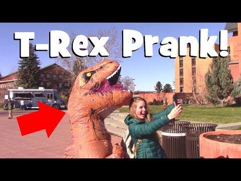 FUNNY T-Rex Costume Prank | Hilarious Dinosaur Suit Practical Joke