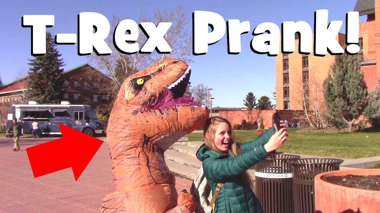 FUNNY T-Rex Costume Prank | Hilarious Dinosaur Suit Practical Joke  sc 1 st  YouTube : funny dinosaur costume  - Germanpascual.Com