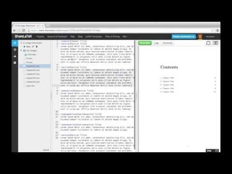 LaTeX video tutorial for beginners (video 7) - Overleaf