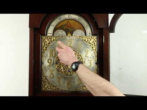 Mahogany Antique Grandfather Tall Case Clock, Westminster Chime