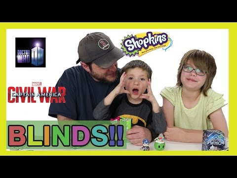 Opening Blinds (Minion Vlog) Shopkins, Doctor Who, Civil War | Day 1062 | ActOutGames