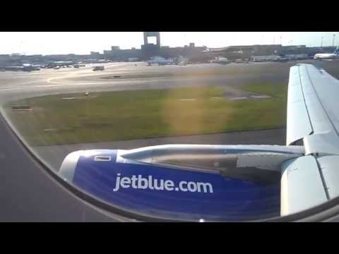 jetBlue A320 Boston (BOS) to Long Beach (LGB) Push Back to Night Landing. LONG Version
