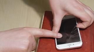 Как снять разбитое защитное стекло со смартфона iPhone 7