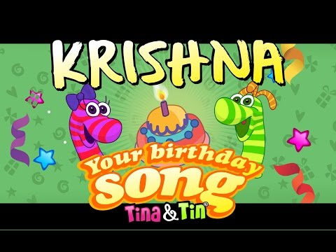 Tina&Tin Happy Birthday KRISHNA (Personalized Birthday Song) #SongsForKids