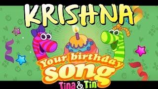 Tina&Tin Happy Birthday KRISHNA 🚦 (Personalized Birthday Song) 🎉
