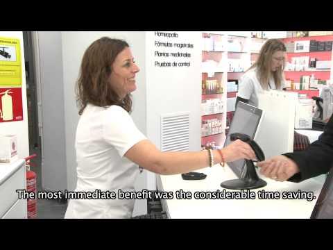 Glory Global Solutions Case Study -  Farmacia Gran Via, Spain