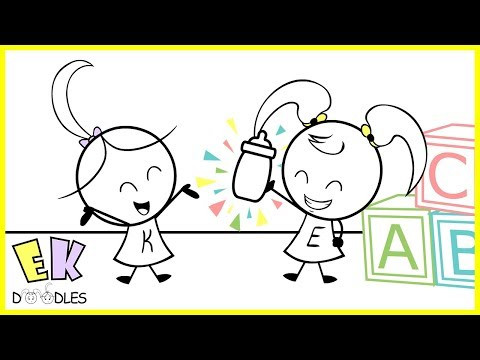 "Emma & Kate ""Milk Coma"" - EK Doodles Funny Cartoon Animation"
