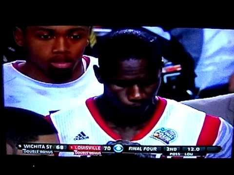 NCAA Championship Wichita vs Louisville Last 2 mins 4/6/2013