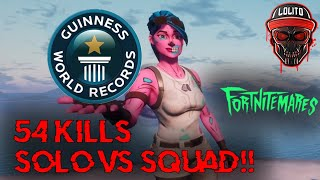 💀¡RECORD MUNDIAL SOLO VS SQUADS - 54 KILLS WIN! 💀 ~ FORTNITE 2 HALLOWEEN