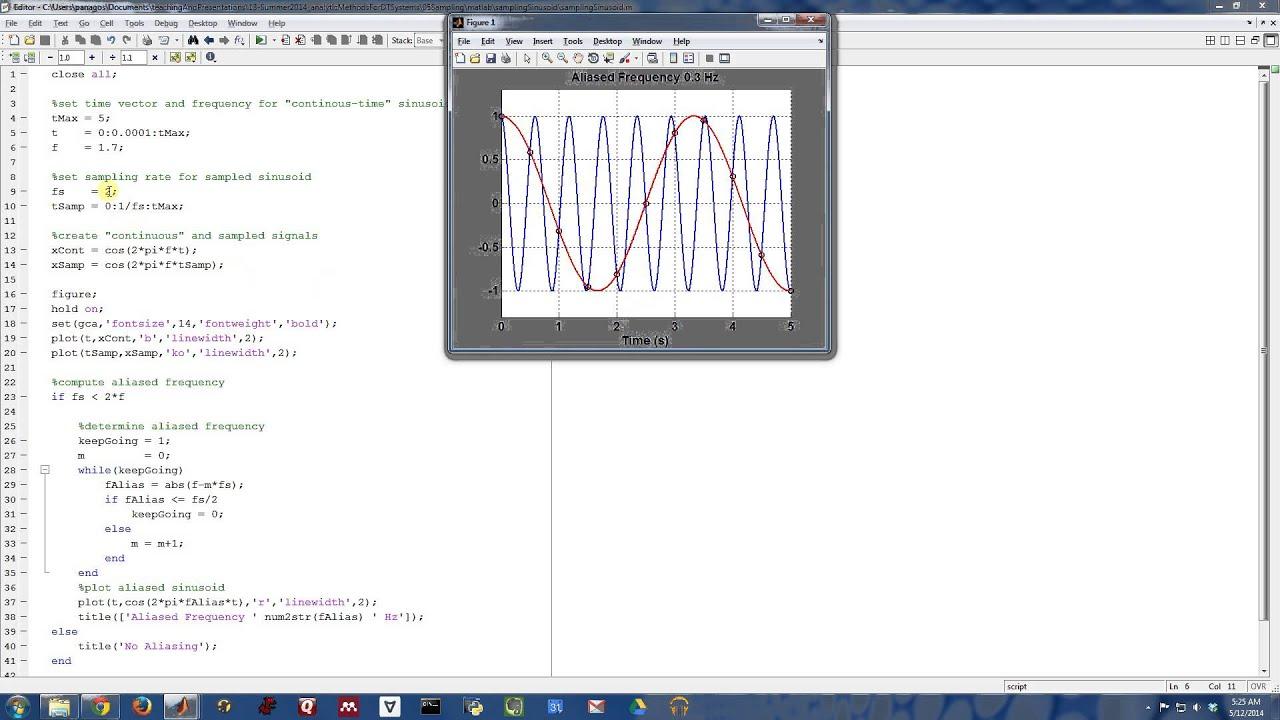 Sampling Signals (6/13) - Sampling a Sinusoid (Matlab) - YouTube