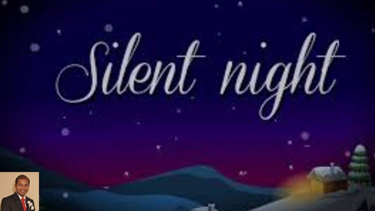 Silent Night with Lyrics | Christmas Carol |Key Lighting Piano, karaoke instrumental English ...