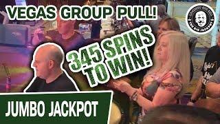 😱 345 Spins to Win! 🎰 Jackpot! MASSIVE Las Vegas Slot Machine Group Pull