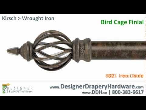 Kirsch Drapery Hardware - Bird Cage Wrought Iron Finial
