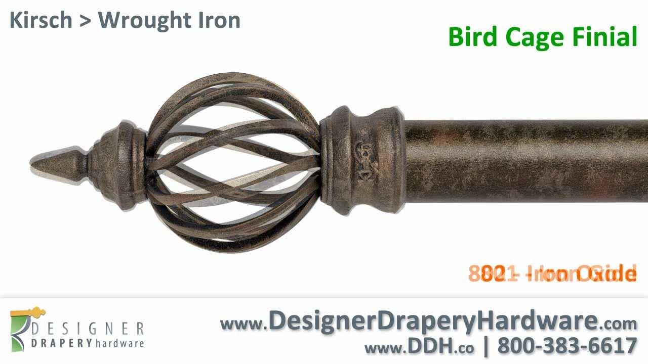 Kirsch Drapery Hardware Bird Cage Wrought Iron Finial