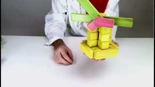 Magnetic Wooden Toys From Tegu - Building A Wind Mill
