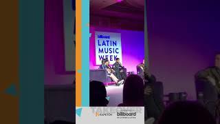 Frabian Eli (Manager De AnuelAa) Y El Alfa En Latin Music Week Billboard