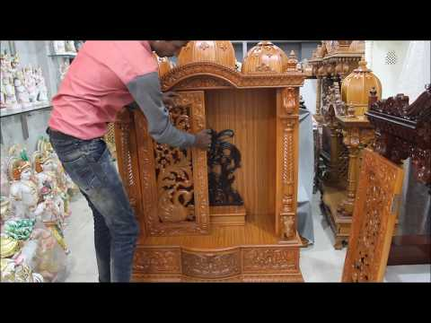 How to assemble the Wooden Temple DIY, Wooden Mandir Fitting at Home