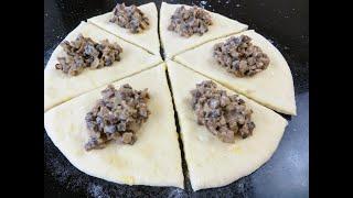 Рецепт фаршированного хлеба А по нашему пирожки на картофельном тесте