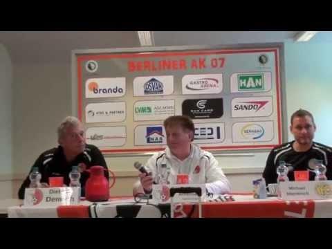Pressekonferenz zum Spiel Berliner AK 07 versus VFC Plauen