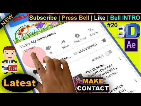 Make Youtube Video Ke Liye 3D Subscribe Bell Icon Intro | Contact US #20