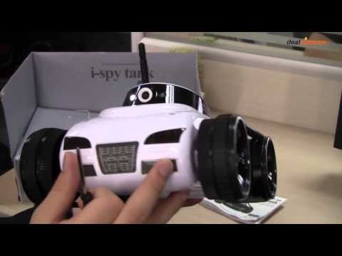 iPhone / iPad / Android Controlled 4-CH Wireless Spy Tank w/ 300KP Camera - DX