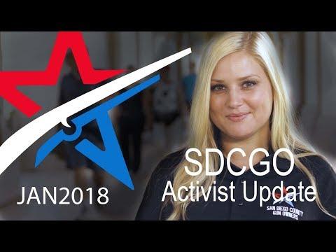 SDCGO Activist Update with Jena - January 2018
