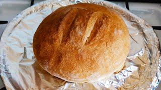 Домашний круглый белый хлеб в духовке Простой рецепт домашнего хлеба