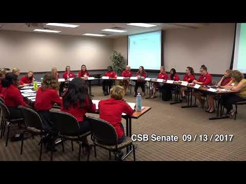 CSB Senate Meeting on 09/13/2017