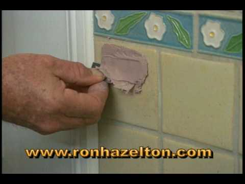 how to fill and repair holes in ceramic tile