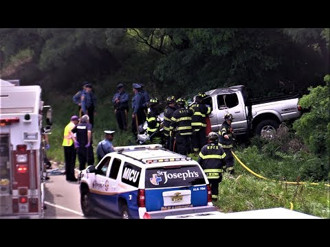 Woodland Park NJ Accident with Entrapment and Rollover Route 80 West near Squirrelwood Rd