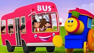 Wheels On The Bus | Bob The Train | Nursery Rhymes For Babies | Kids TV
