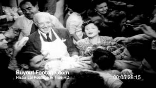 HD Stock Footage WWII Hollywood Canteen Celebrities 1944 Screen Magazine #26 Reel 2