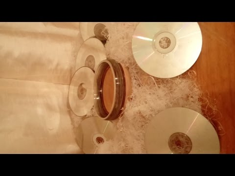 Woodturning compact discs (CD's) Upcycling into a beech and disc bowl..