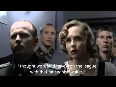Parody: Hitler as a Liverpool Fan hears Moyes has been fired.