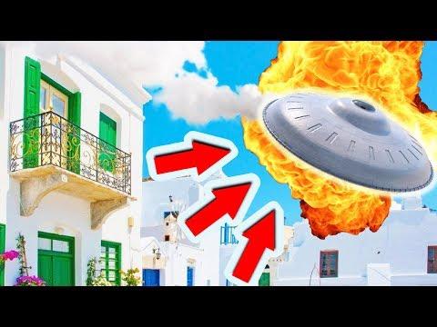Срочно! НЛО Перевернулось в Греции - Снято на Камеру 2018 HD (UFO)