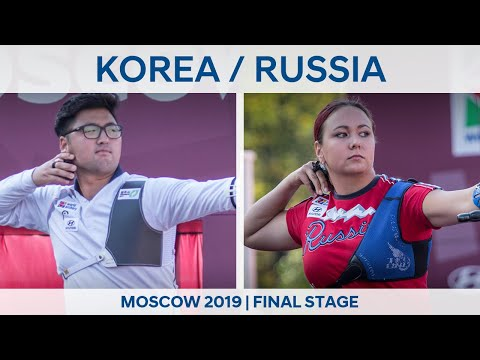 Korea v Russia – recurve mixed team gold   Moscow 2019 World Cup Final