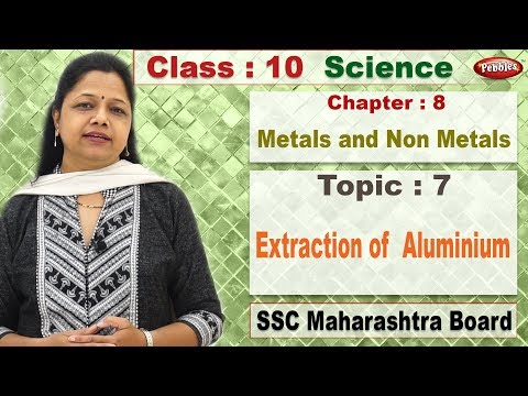 Class 10 | Science 2 | Chapter 8 | Metals and Non Metals | Topic 07 | Extraction of  Aluminium