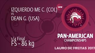 1/4 FS - 86 kg: G. DEAN (USA) df. C. IZQUIERDO ME (COL) by TF, 11-0