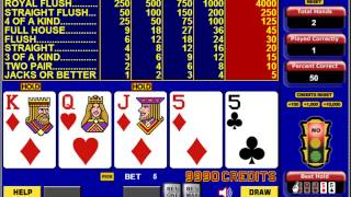 Learn to win at Video Poker like a pro!  - Interactive Tutorial shows you how.