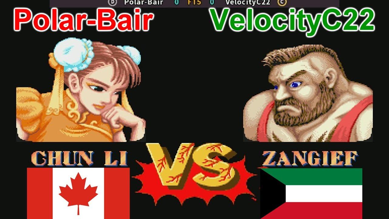 Street Fighter II - The World Warrior - Polar-Bair vs VelocityC22 FT5