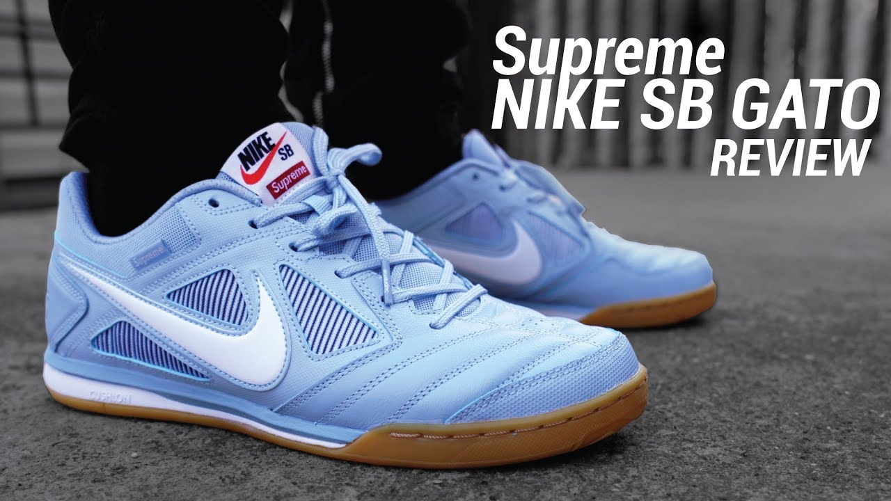 906bdb4e61 Supreme Nike SB Gato Review   On Feet - YouTube
