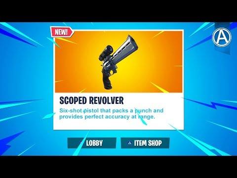 "NEW ""SCOPED REVOLVER"" Coming Soon! (Fortnite Battle Royale LIVE) thumbnail"