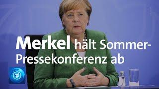 Auf der traditionellen sommer-pressekonferenz will sich bundeskanzlerin angela merkel (cdu) in berlin zu aktuellen innen- und außenpolitischen themen äußern.