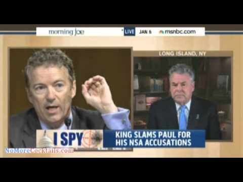 Peter King accuses Rand Paul of creating hysteria and paranoia among Americans