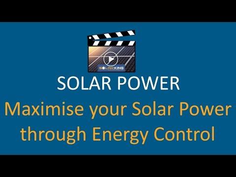 SolarKing Video Blog - Maximising Solar Power through Energy Control