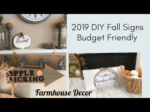 DIY Fall Decor & Signs   Dollar Tree & Target