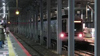 東武鉄道20000系 21854F 北越谷駅入線~発車(~東京メトロ13000系 13104F 入線)