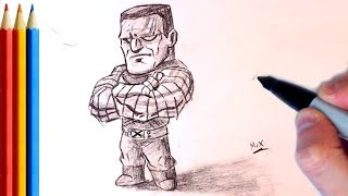 How to Draw Colossus from X-men - Step by Step Tutorial